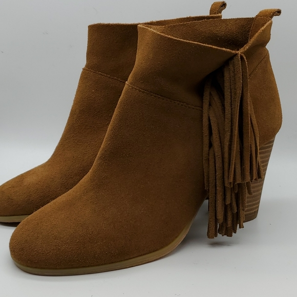 Buckskin fringe boots sz 7